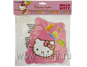Гирлянда-буквы  С ДР Hello Kitty 220см/A 1505-0480
